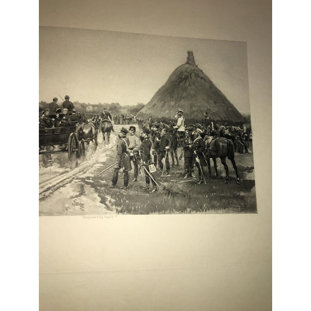 Paper 1881 Edouard Detaille Military Scene Lithograph For Sale - Image 7 of 7