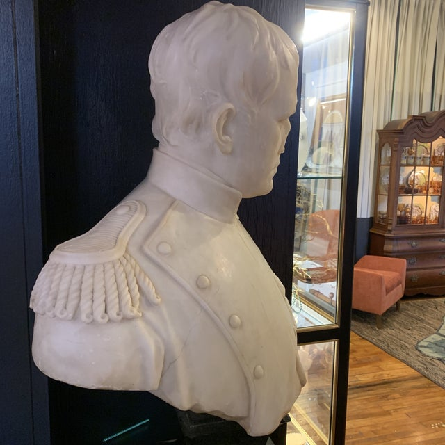 Napoleon Marble Bust W/ Granite Base For Sale - Image 4 of 10