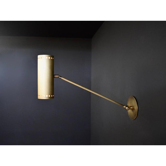 Cannula Modern Bronze Wall Lamp or Sconce by Blueprint Lighting For Sale In New York - Image 6 of 9