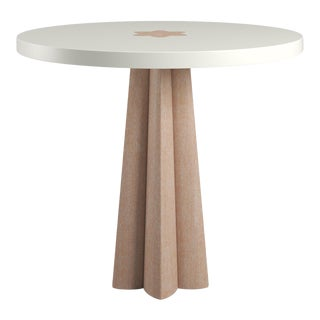 Danielle Side Table - Natural Cerused Oak - Simply White For Sale
