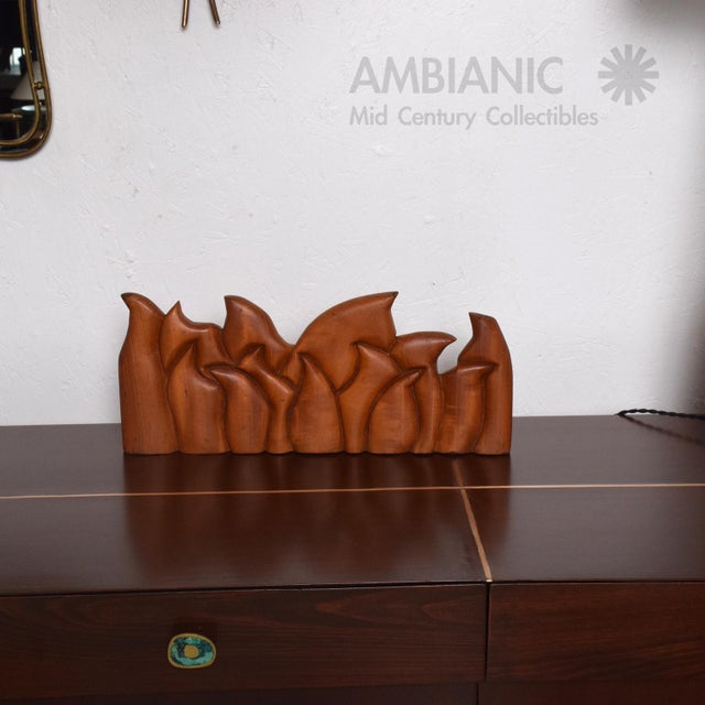 Abstract Wood Sculpture the Last Supper Signed Victor Rozo For Sale - Image 9 of 9