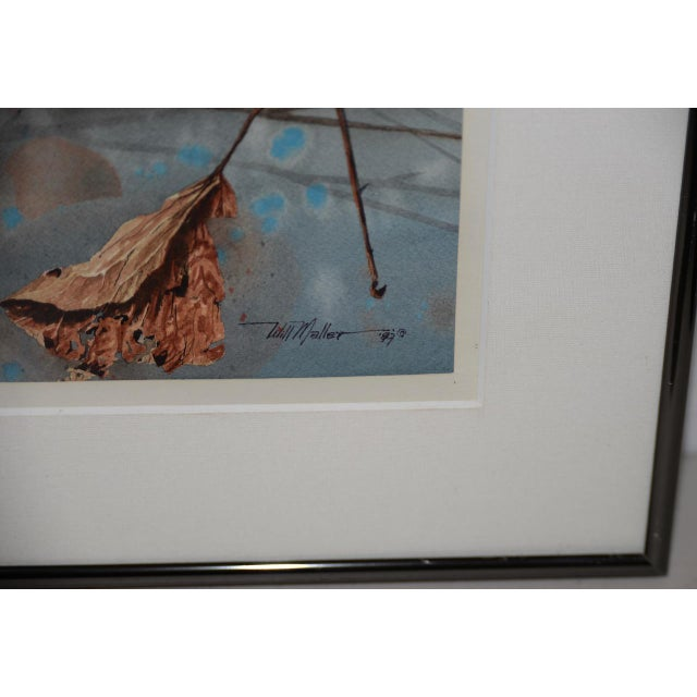 """1980s Will Maller (20th C.) """"Spring Wake-Up"""" Original Watercolor C.1987 For Sale - Image 5 of 9"""