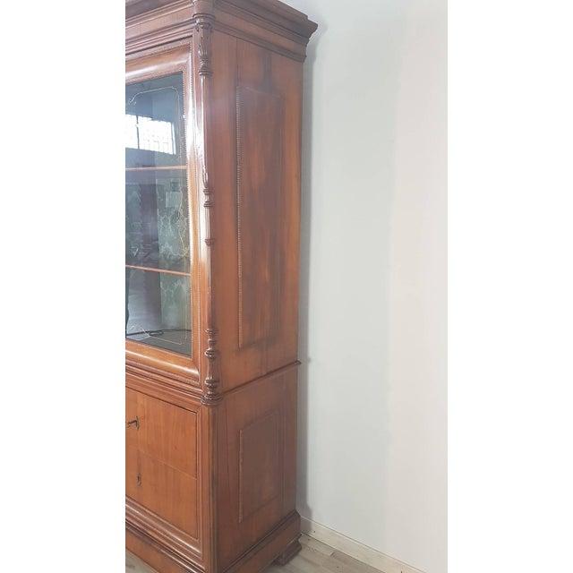 Italian 19th Century Italian Charles X Cherry Wood Cabinet For Sale - Image 3 of 13