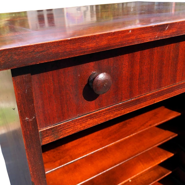 Antique Mahogany Empire Sheet Music Vinyl Record Cabinet by Udell Works For Sale - Image 9 of 12
