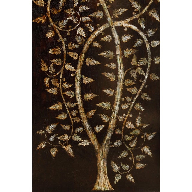 "Pair of MOP Inlaid ""Tree of Life"" Vietnamese - Image 5 of 6"