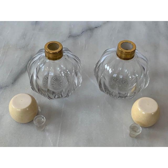 Art Deco Art Deco Cut Glass Cologne Bottles-a Pair For Sale - Image 3 of 5