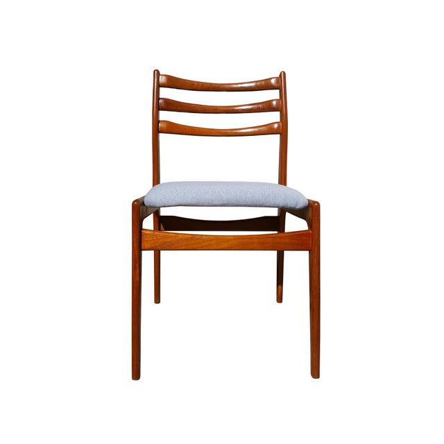 Danish Mid-Century Modern Teak Wood Dining Chair - A Pair - Image 3 of 8