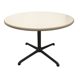 Mid-Century Eames Style Bistro Table by Steelcase For Sale