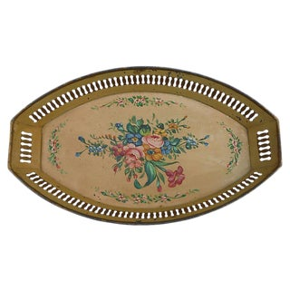 French Tole Flowers Basket