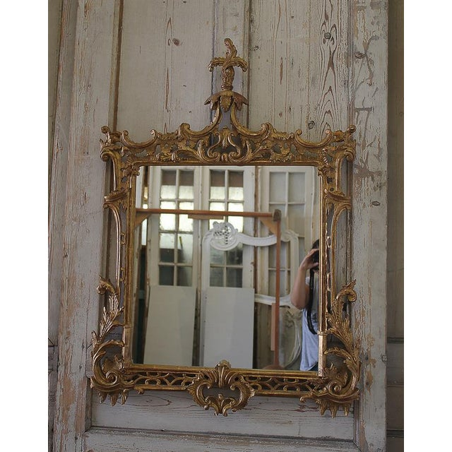 19th Century Carved Chippendale Style Gilt Mirror - Image 2 of 6