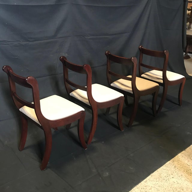 Brown Early 19th Century Regency Dining Chairs- Set of 4 For Sale - Image 8 of 13