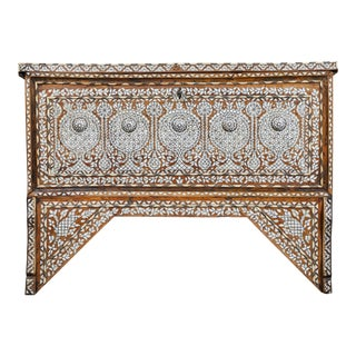 19th Century Syrian Inlaid Wedding Chest For Sale