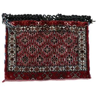 1930s, Handmade Antique Turkmen Tekke Bag 1.4' X 2' For Sale
