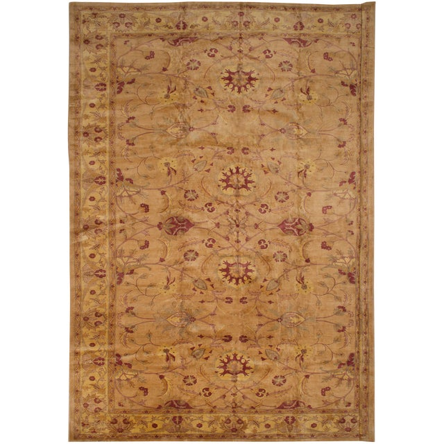 """Hand-Knotted Afghan Rug, 13'2"""" X 17'6"""" Feet For Sale"""