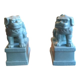 Blue Foo Dogs - a Pair For Sale