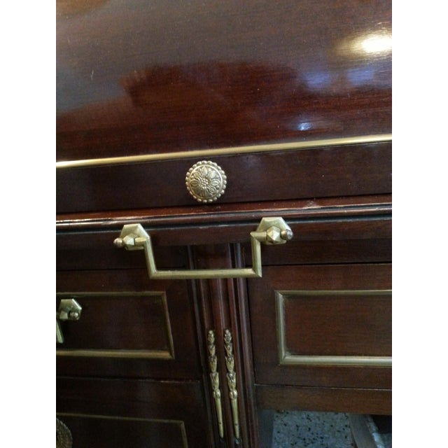 French Directiore Style Mahogany Roll Top Desk For Sale - Image 9 of 13