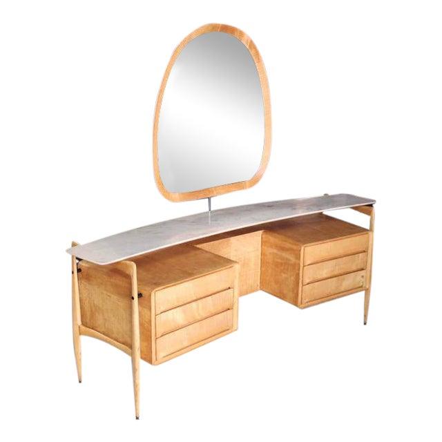 Mid-Century Italian Modern Vanity Dressing Table For Sale