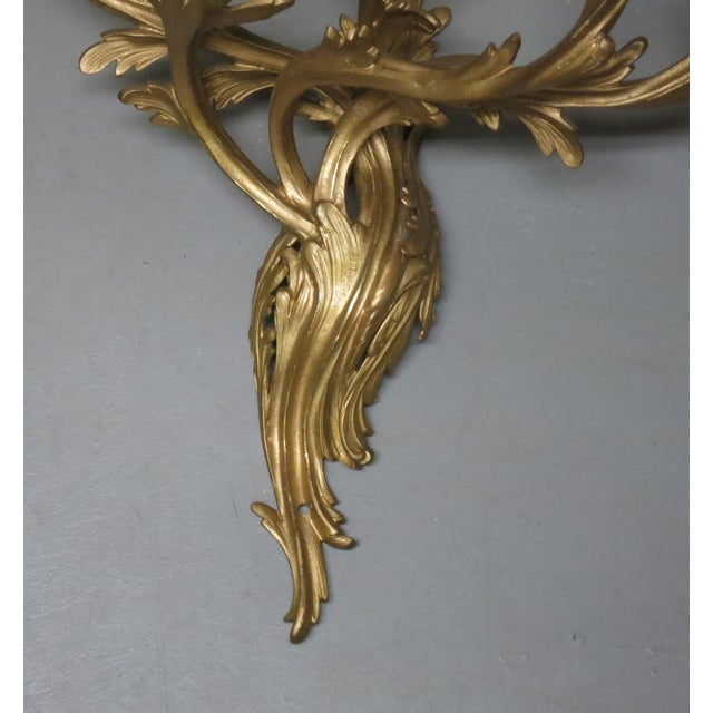 Victorian Early 20th Century Gilt French Sconces Louis the XV Style - a Pair For Sale - Image 3 of 8
