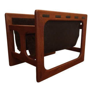 Salin Mobler Danish Teak & Leather Magazine Rack