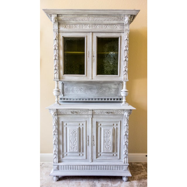 Renaissance Revival Painted Carved Sideboard - Image 2 of 11