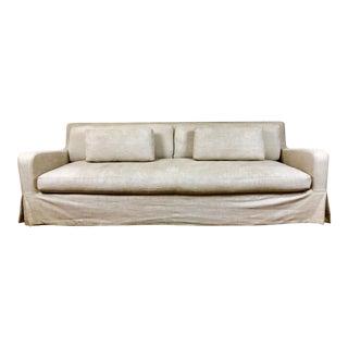 Restoration Hardware Belgian Slope Arm Slipcovered Sofa For Sale