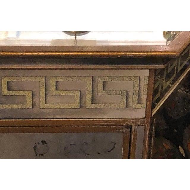 Mid Century Modern Greek Key Design All Mirrored Bar Chairish