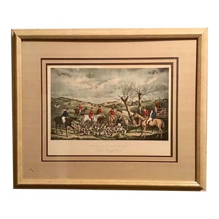 19th Century Original Hunting Lithograph by Henry Alken For Sale