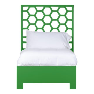 Honeycomb Bed Twin Extra Long - Bright Green For Sale