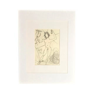 """1960s Vintage Salvador Dali """"Mercury"""" Framed Etching Print For Sale"""