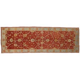Antique Turkish Oushak Long Area Rug, 07'09 X 23'05 For Sale