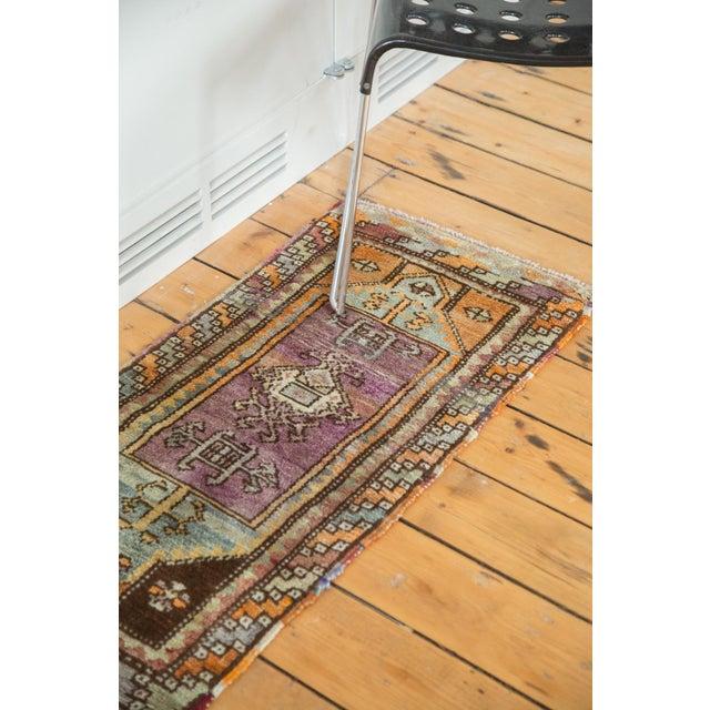 """Vintage Oushak Rug Mat Runner - 1'7"""" X 3'6"""" - Image 3 of 6"""