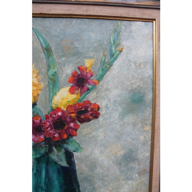 Alexander Vintage Still Life of Flowers Painting For Sale - Image 5 of 9