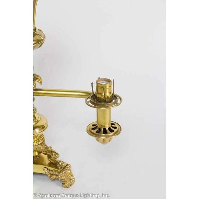 Restored 19th Century Brass Argand Lamp For Sale - Image 11 of 12