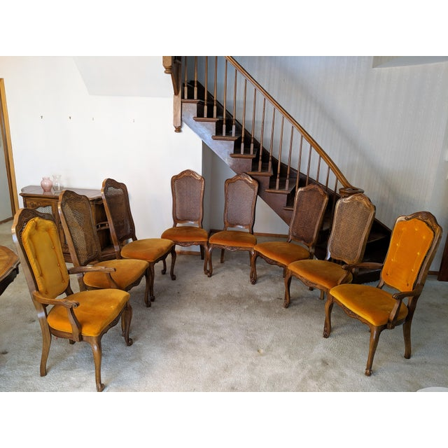 Brown 1970s Traditional Hibriten Dining Room Set For Sale - Image 8 of 9