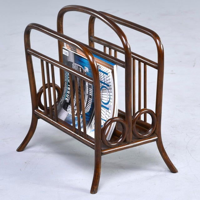 Early Thonet Bentwood Magazine Rack For Sale In Detroit - Image 6 of 12