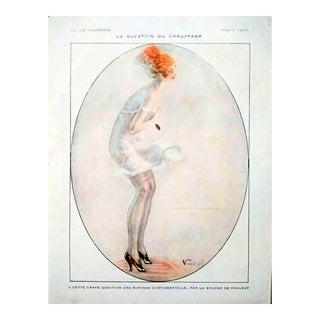 """Vald'Es 1917 """"La Question Du Chauffage"""" La Vie Parisienne Print For Sale"""