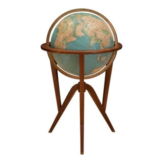 Vintage Edward Wormley for Dunbar Illuminated Globe Stand For Sale