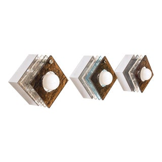 Italian Wall Sconces With Plexiglass For Sale