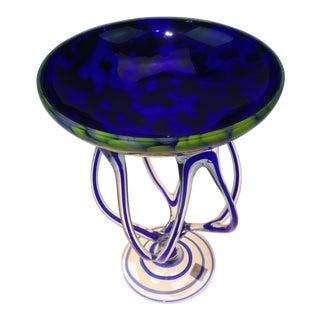Makora Krosno Spider Legged Art Glass Vase Free Form Compote For Sale