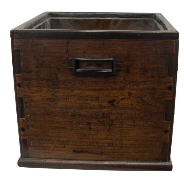 Asian Antique Square Hibachi For Sale - Image 3 of 8