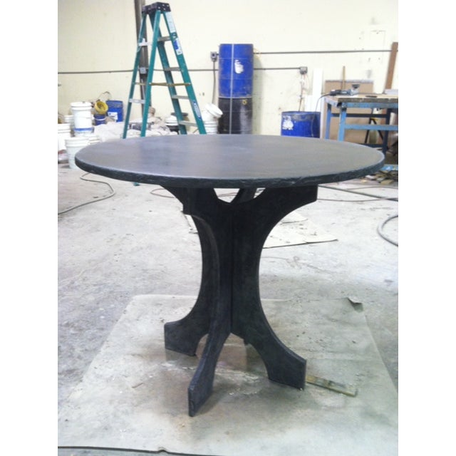 Slate Gray Concrete Bistro Table For Sale - Image 4 of 4