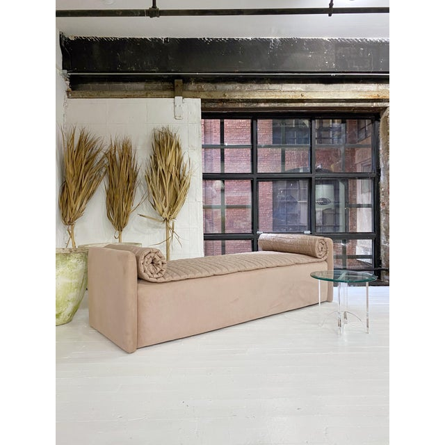 John Saladino Blush Chaise For Sale - Image 10 of 11