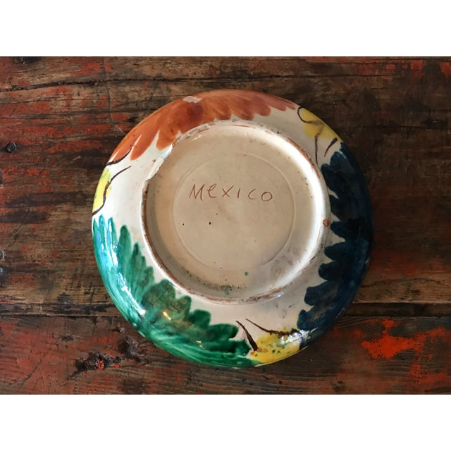 Ceramic Vintage Mexican Pottery Decorative Bowl For Sale - Image 7 of 11