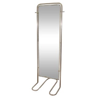 SPECTACULAR MODERNIST ART DECO FULL-LENGTH MIRROR BY LOUIS SOGNOT For Sale