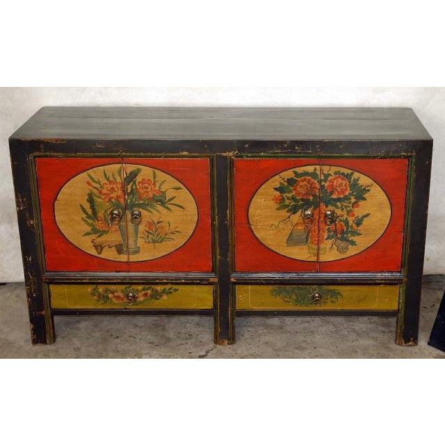 Mongolian Antique Elm Wood Sideboard - Image 2 of 3