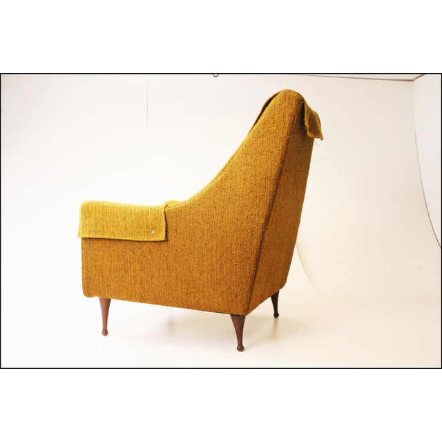 Mid Century Modern Upholstered Lounge Chair by Flexsteel - Image 6 of 11