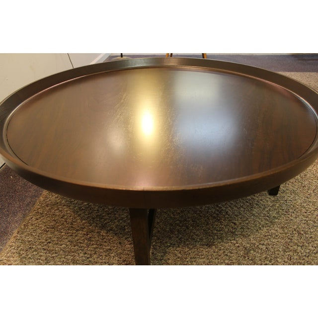 Mid-Century Modern Baker Round Flared Coffee Table - Image 7 of 11