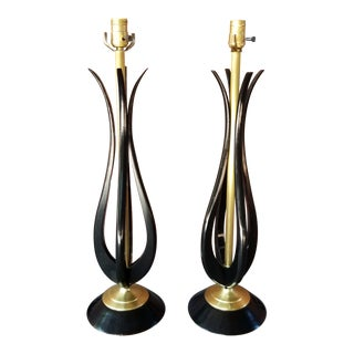 Adrian Pearsall Mid-Century Table Lamps - a Pair For Sale