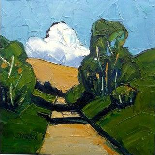 Eucalyptus Path Lynne French California Plein Air Landscape Painting For Sale