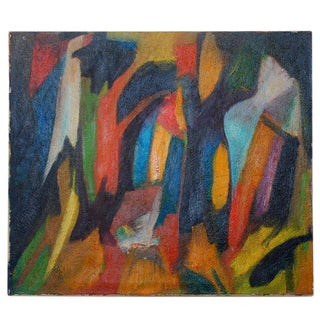 Latin American Mario Beauregard Abstract Oil in Canvas For Sale